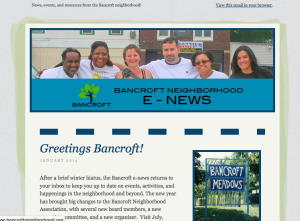 Bancroft E-News sample photo